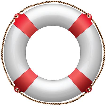 정면: life buoy against white background, abstract art illustration