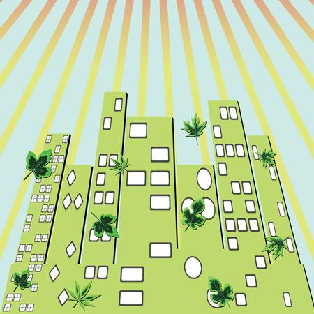 city green, abstract art illustration Stock Vector - 8133119