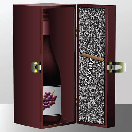 wine box, abstract vector art illustration