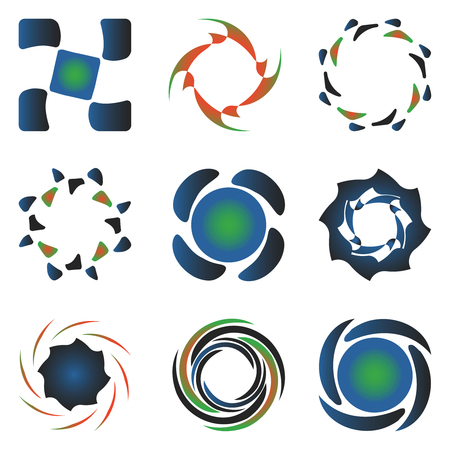 various design elements collection against white background, abstract vector art illustration