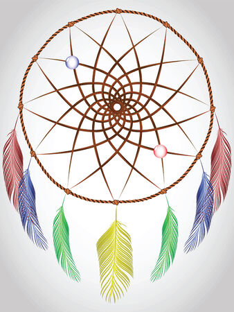 dream catcher, abstract vector art illustration Stock Vector - 8384362