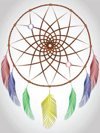 dream catcher, abstract vector art illustration