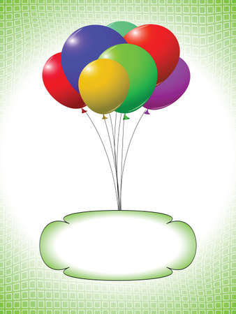 balloons and bubble design, abstract vector art illustration Vector