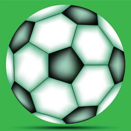 soccer ball against green background, abstract vector art illustration Stock Vector - 8384371