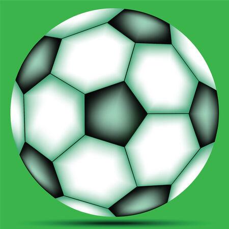 soccer ball against green background, abstract vector art illustration Stock Vector - 8384371