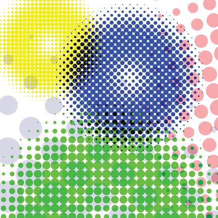 halftone round pattern, abstract vector art illustration Vector