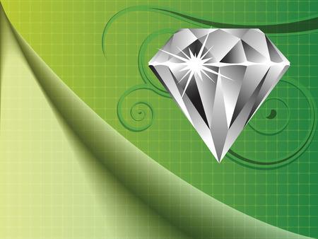 diamond background, abstract vector art illustration