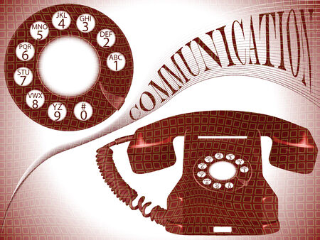 bakelite: communication composition, abstract vector art illustration