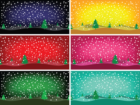 rime: winter banners, abstract vector art illustration