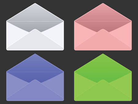 sealable: empty envelopes against gray background, abstract vector art illustration Illustration