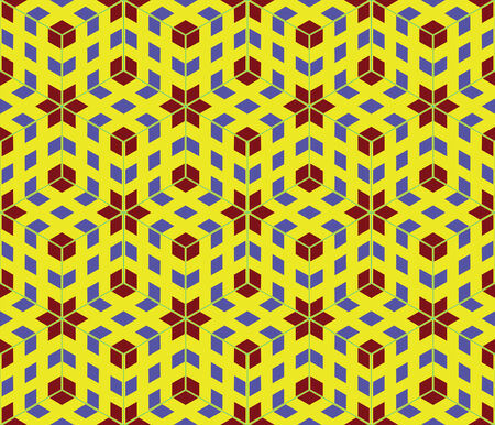 generative: pop art seamless pattern, abstract texture; vector art illustration