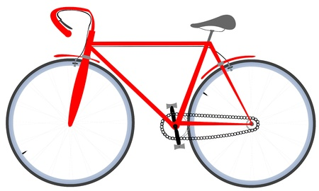 red bicycle, vector art illustration