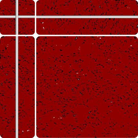 red stone tipe ceramic tiles, vector art illustration, easy to modify colors illustration