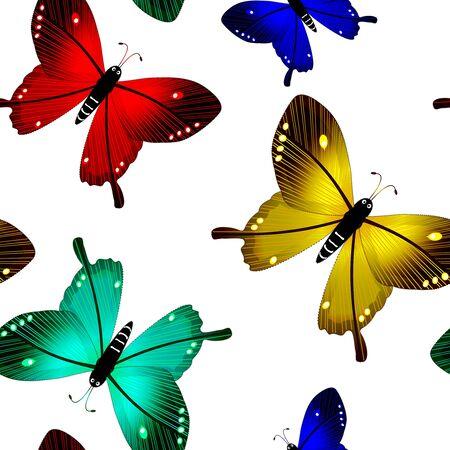 butterflies seamless pattern, abstract vector art illustration Stock Illustration - 8546024