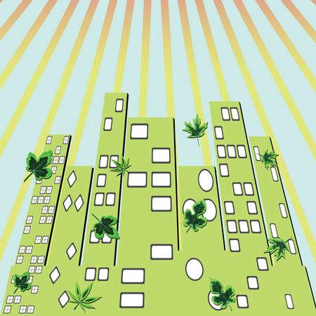 city green, abstract vector art illustration Stock Illustration - 8545851