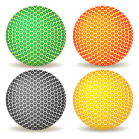 colored balls against white background, abstract vector art illustration illustration