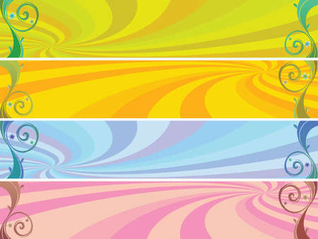 colored headers background, abstract vector art illustration Stock Illustration - 8545355