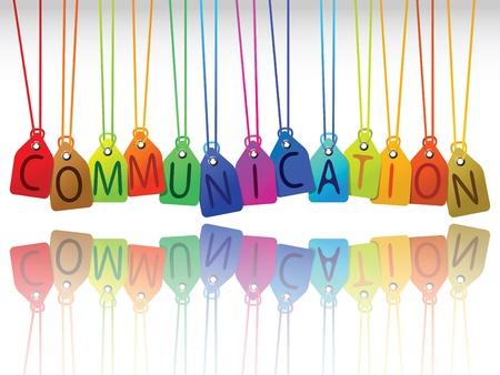communication tags, abstract vector art illustration illustration
