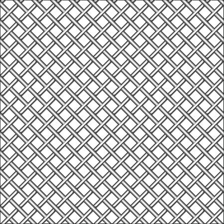design with metallic realistic mesh, abstract seamless pattern; vector art illustration illustration