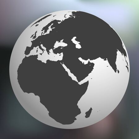 earth globe against abstract background, vector art illustration Banco de Imagens - 8545586