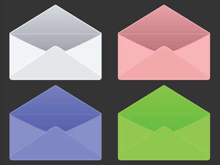 empty envelopes against gray background, abstract  art illustration Stock Illustration - 8546250