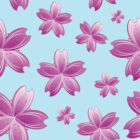 flowers seamless pattern, abstract texture; vector art illustration illustration