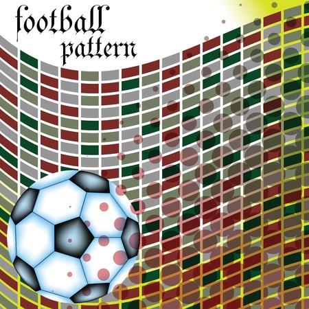 football abstract pattern, vector art illustration