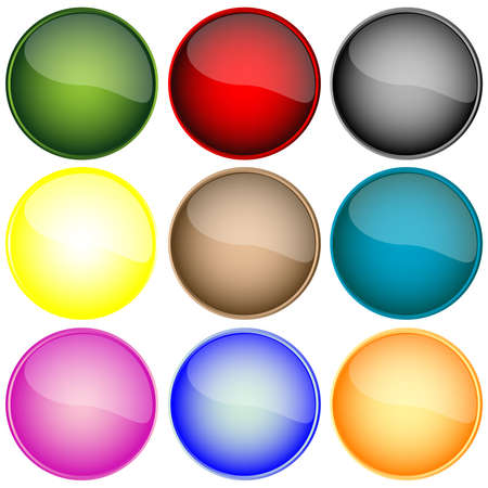 fresh web buttons isolated on white background, abstract art illustration Stock Illustration - 8545274