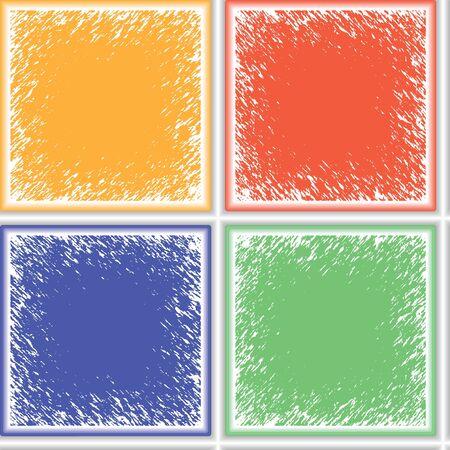 grunge ceramic seamless texture, abstract pattern; vector art illustration Stock Illustration - 8544904