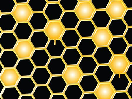 honey comb background, abstract   art illustration illustration
