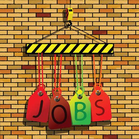jobs under construction, abstract vector art illustration illustration