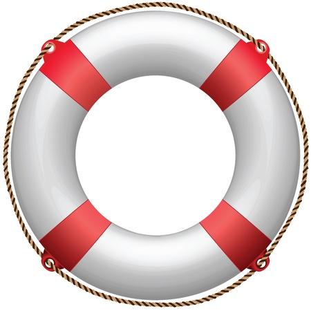 life buoy against white background, abstract vector art illustration Standard-Bild