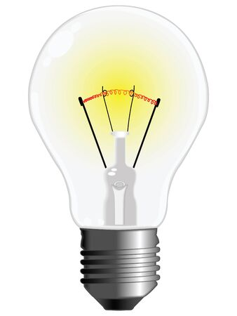 light bulb against white background, abstract vector art illustration Stock Illustration - 8545651