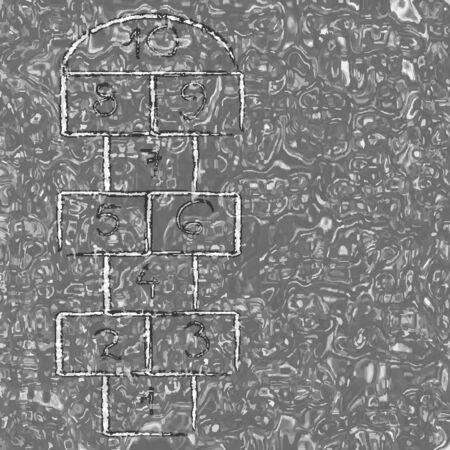 liquid texture and hopscotch, abstract vector art illustration