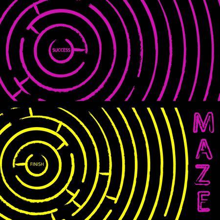 maze composition, abstract vector art illustration illustration