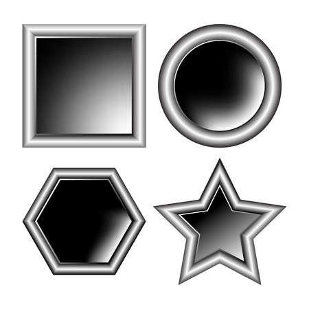 photo aluminum frames isolated on white background, abstract vector art illustration illustration