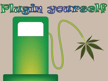 plugin: plugin yourself, abstract vector art illustration Stock Photo