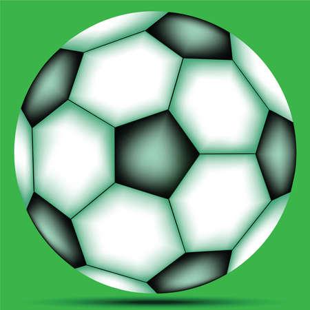 soccer ball against green background, abstract vector art illustration Stock Illustration - 8545370
