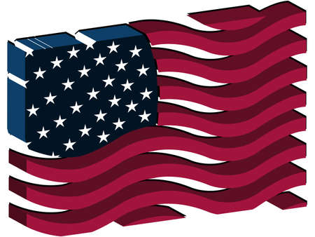united states flag concept, abstract vector art illustration