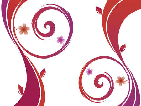vector flower background, abstract art illustration Stock Illustration - 8545425