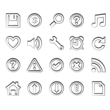 web icons ready for design against white background, abstract vector art illustration Stock Illustration - 8545426