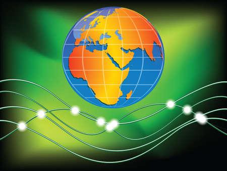 world communication concept, abstract vector art illustration illustration