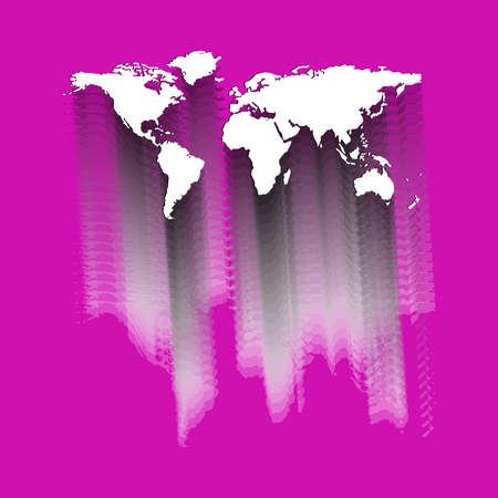 wereld kaart abstract, vector kunst illustratie Stockfoto