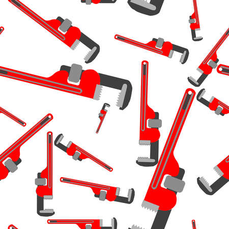 pipefitter: wrench pipe seamless pattern, abstract art illustration