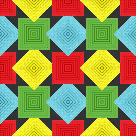 正方形パターン、抽象的なシームレスなテクスチャ、アート イラスト