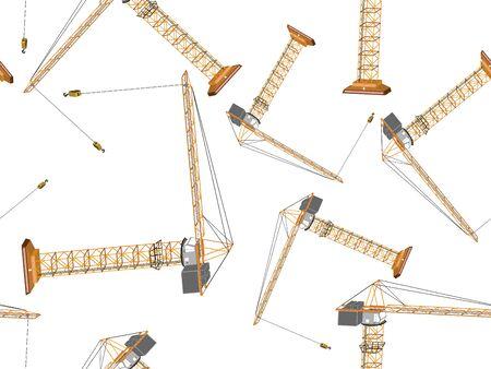 cranes pattern, abstract seamless texture, art illustration Reklamní fotografie