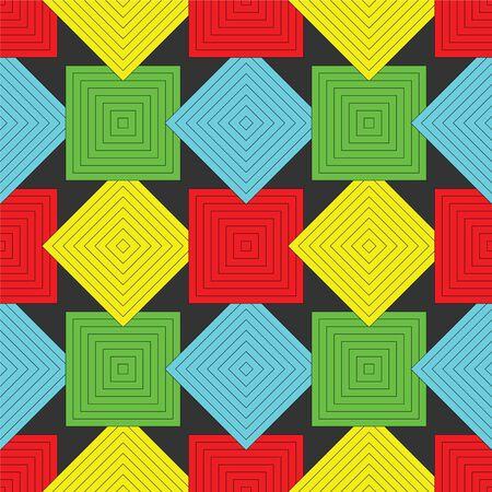 squares pattern, abstract seamless texture, art illustration Stock Illustration - 8734469