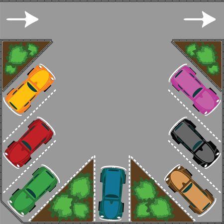 parking for cars, abstract vector art illustration illustration