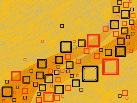squares abstract composition, vector art illustration