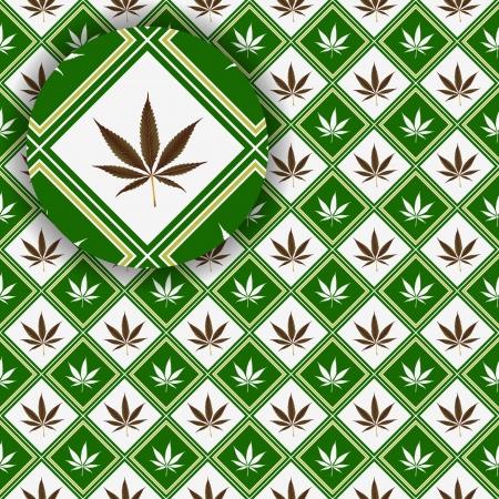 hanf: Cannabis Textur mit Details, abstract Vector Illustration Kunst Illustration